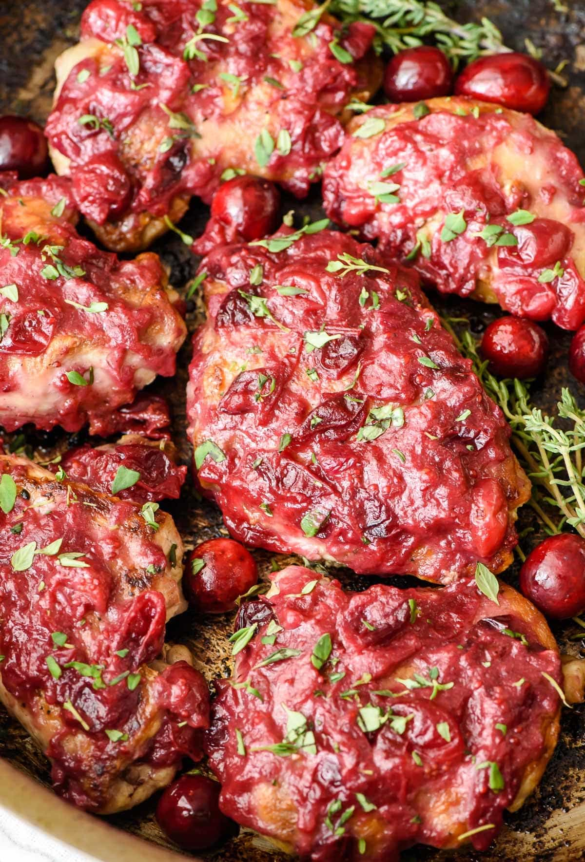 One Pan Cranberry Chicken