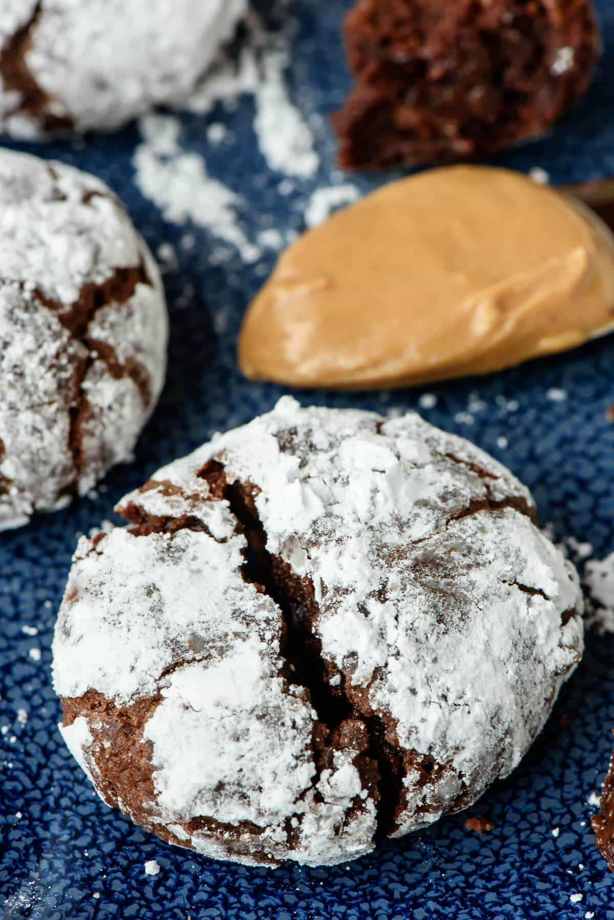 Chocolate Peanut Butter Cookies With Cocoa Powder