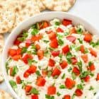 Garlic Feta Dip. Easy, creamy, and crowd-pleasing, it's the perfect appetizer to whip up for any party!