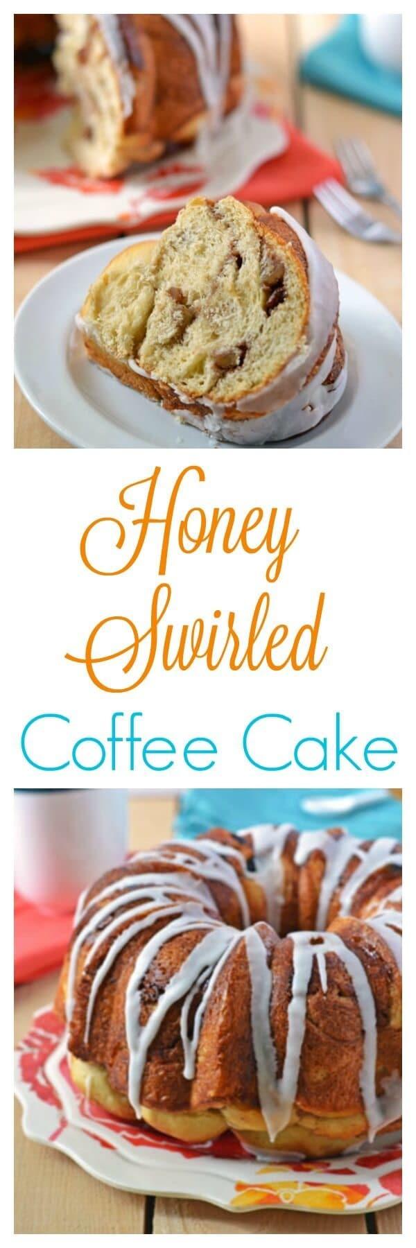 Honey Swirled Coffee Cake. The sweetest way to start your day!