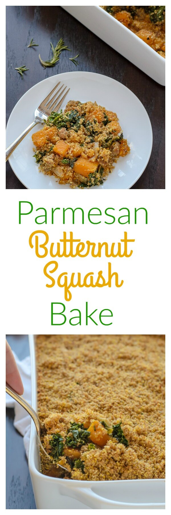 Parmesan Butternut Squash Bake. Seasonal ingredients shine in this delicious and easy-to-make casserole!