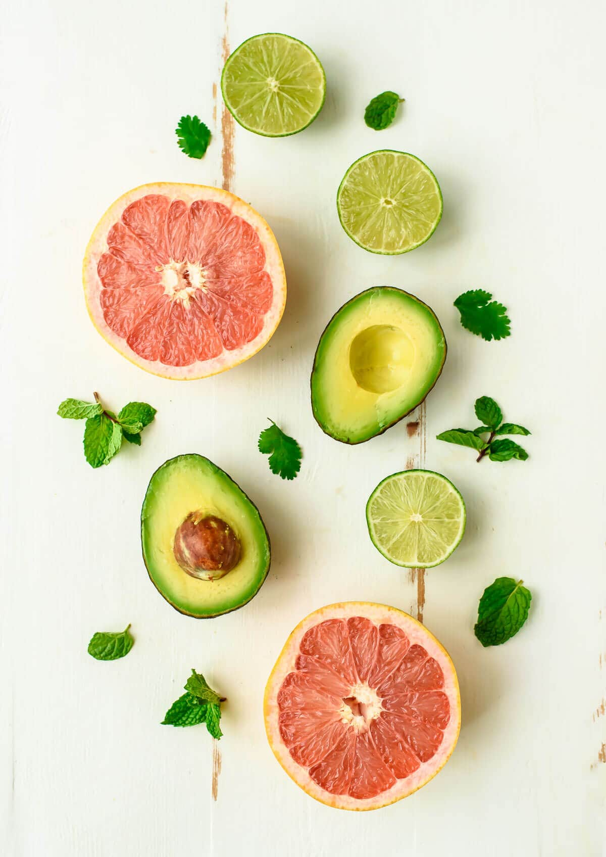 Avocado Grapefruit Salad with Couscous and White Beans. A healthy, filling salad recipe that's perfect any time of day.