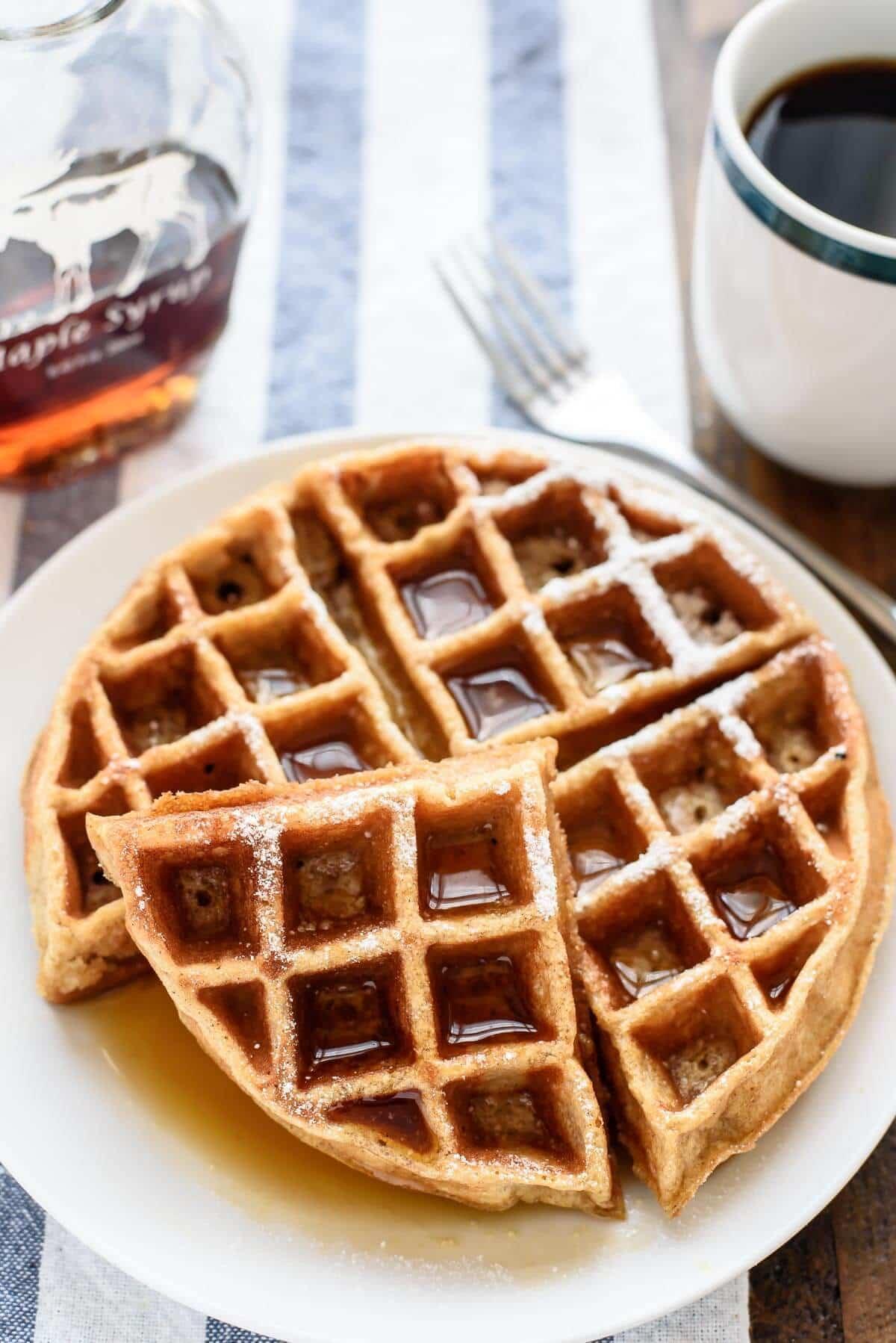 Low Fat Whole Wheat Waffles 8