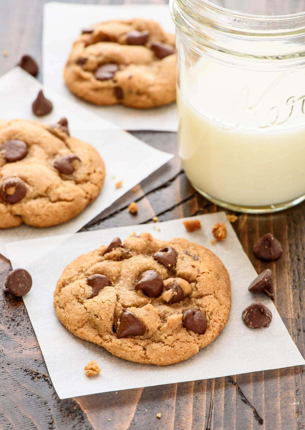 Chocolate Chip Coconut Oil Cookies