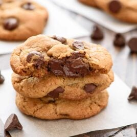 Super SOFT Chocolate Chip Coconut Oil Cookies — Move over butter! Making cookies with coconut oil is life changing! Thick, chewy AND healthy. NO BUTTER!