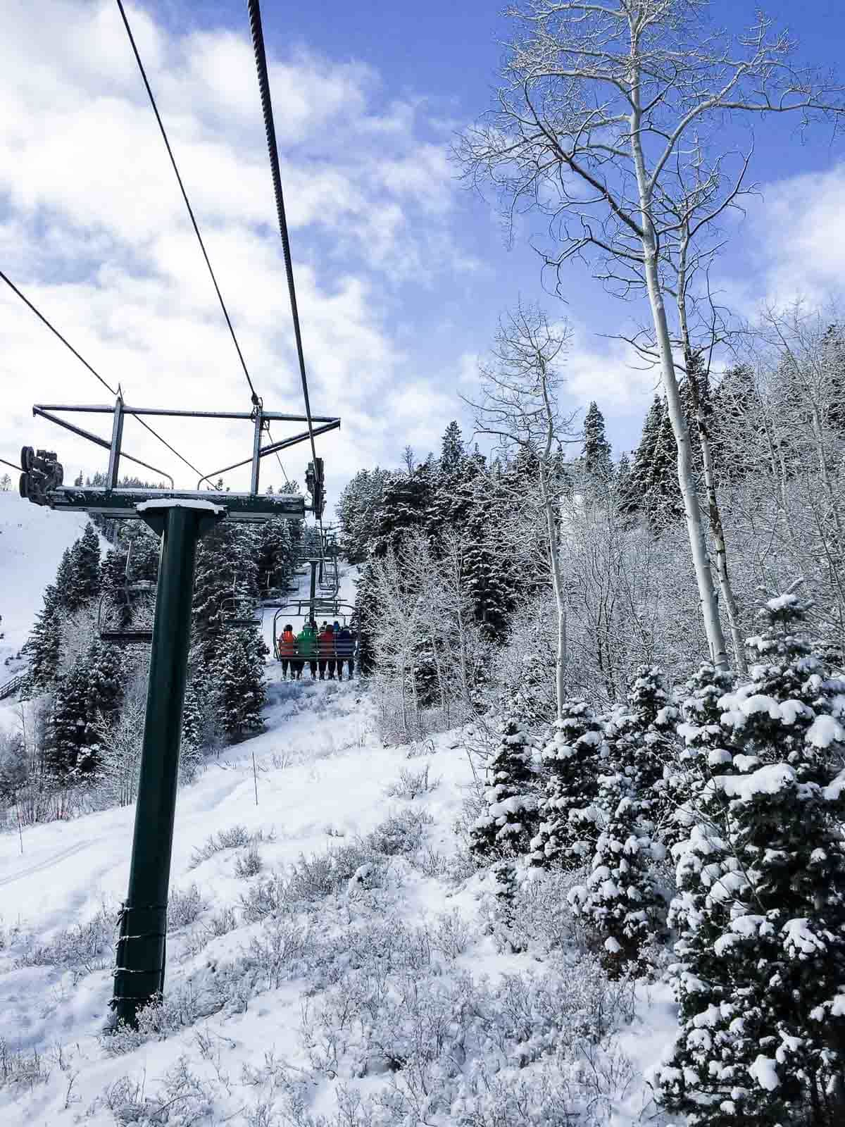 Chairlift at Deer Valley