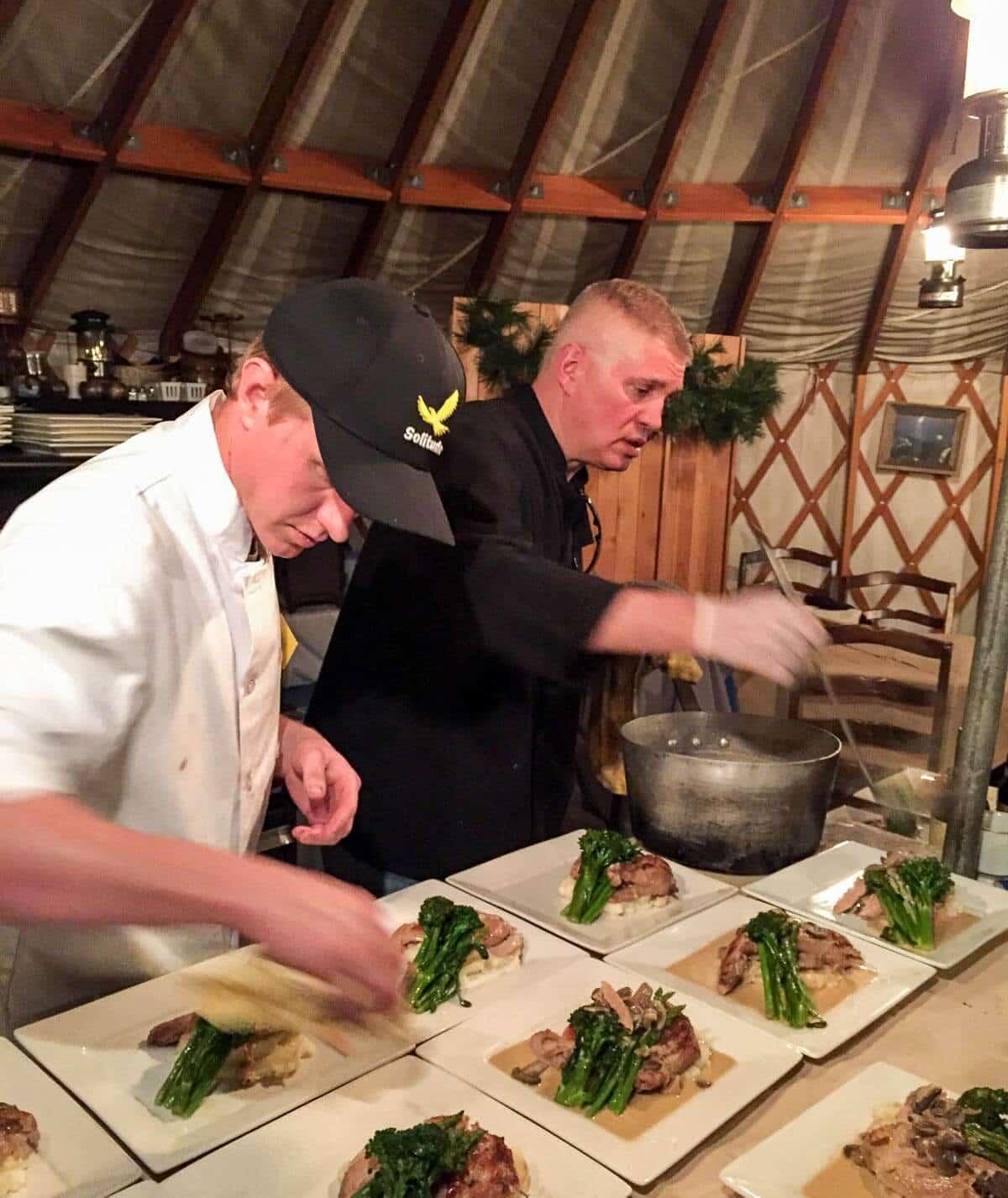 Dinner at the Mountain Yurt at Solitude Resort, Utah