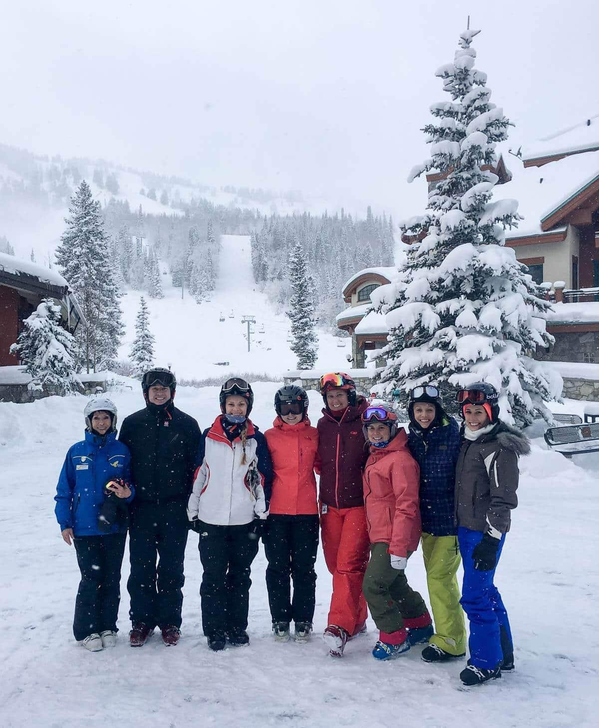 Ski group at Solitude