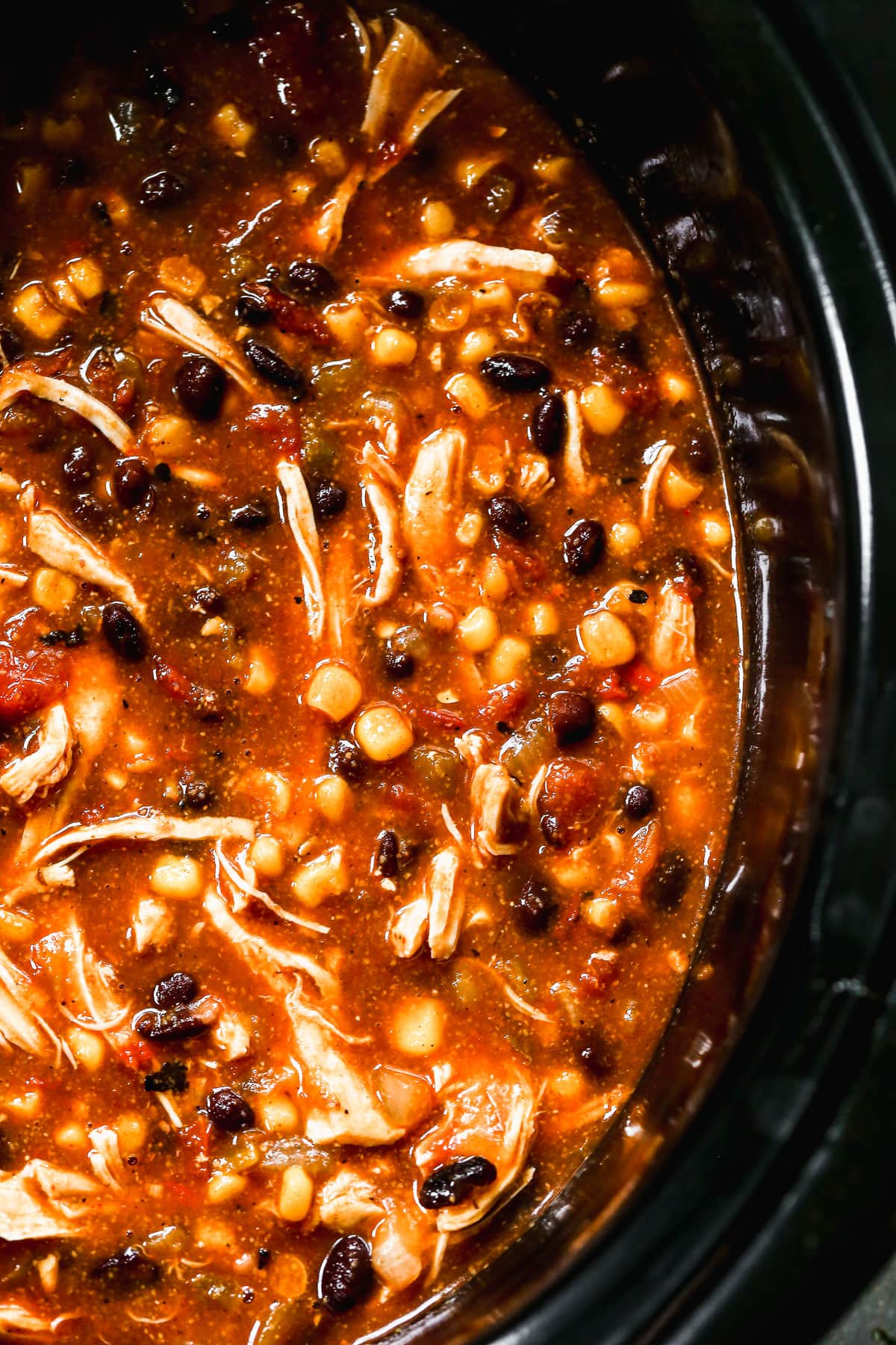 Slow Cooker Chicken Enchilada Soup — Easy, cheesy, and only 10 minutes to prep!