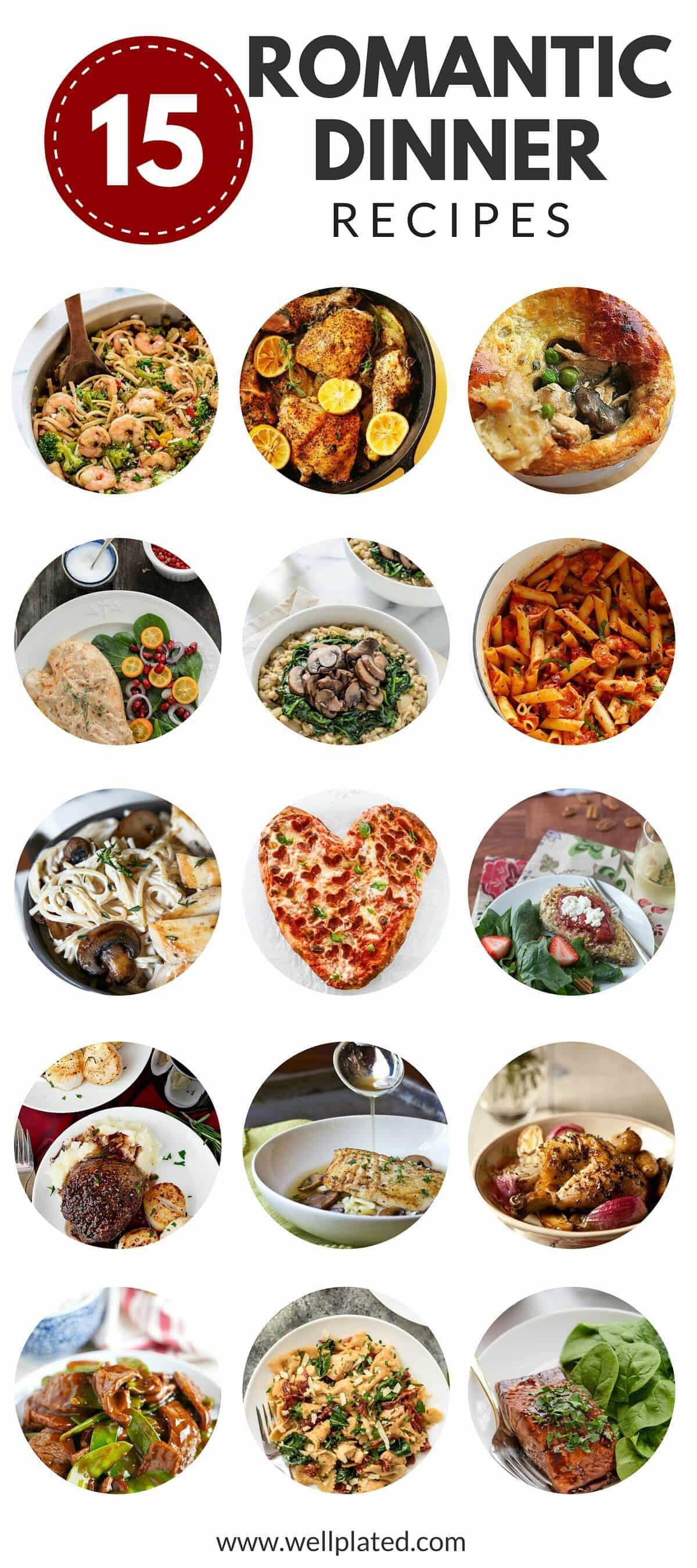 15 Date Night Dinners. Skip the crowd and expense of going out and try one of these easy, romantic dinners, perfect for a special night in!