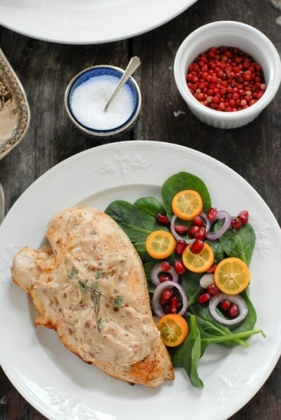 Pink Peppercorn Sherry Cream Chicken. Score big points with your special someone with a romantic dinner recipe like this Pink Peppercorn Sherry Cream Chicken!