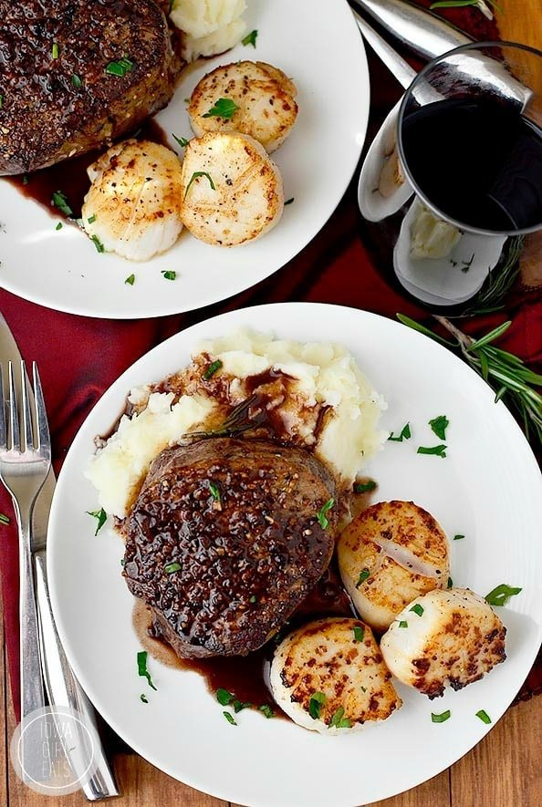 15 romantic dinner recipes well plated by erin surf and turf for two sometimes you just cant mess with a classic forumfinder Gallery