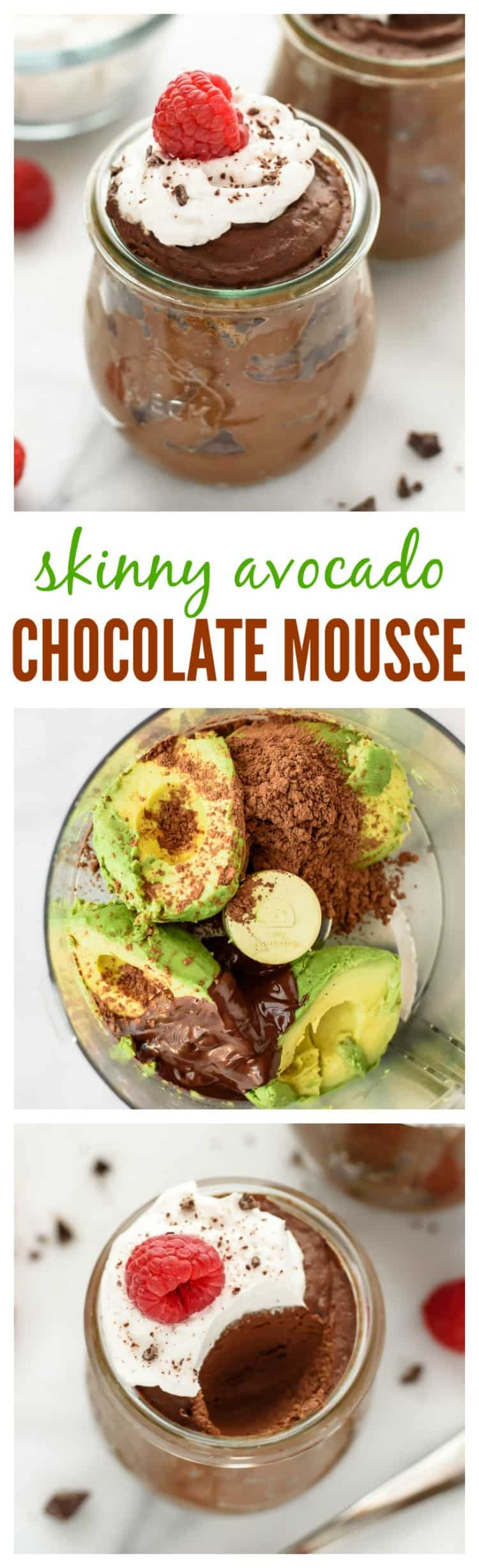 Avocado chocolate mousseis not just healthier chocolate mousse; it is also one of the easiest chocolate mousse recipes you will ever make! A dairy-free, gluten-free, refined-sugar free, vegan dessert that is ready to eat in 5 minutes!#healthydesserts #chocolate #glutenfree #dairyfree #vegan