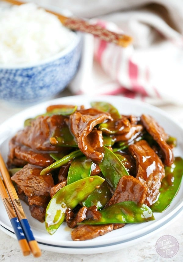 25-Minute Beef and Snow Pea Stir Fry. Who needs take out when you can make an absolutely delicious, romantic dinner recipe in only 25 minutes!