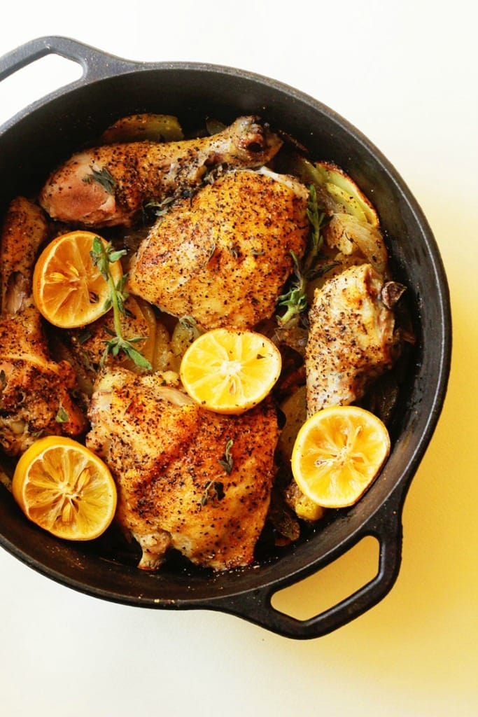 Lemon Roasted Chicken. Comfort and love are the name of the game when it comes to Lemon Roasted Chicken, making it a perfect romantic date night dinner recipe!