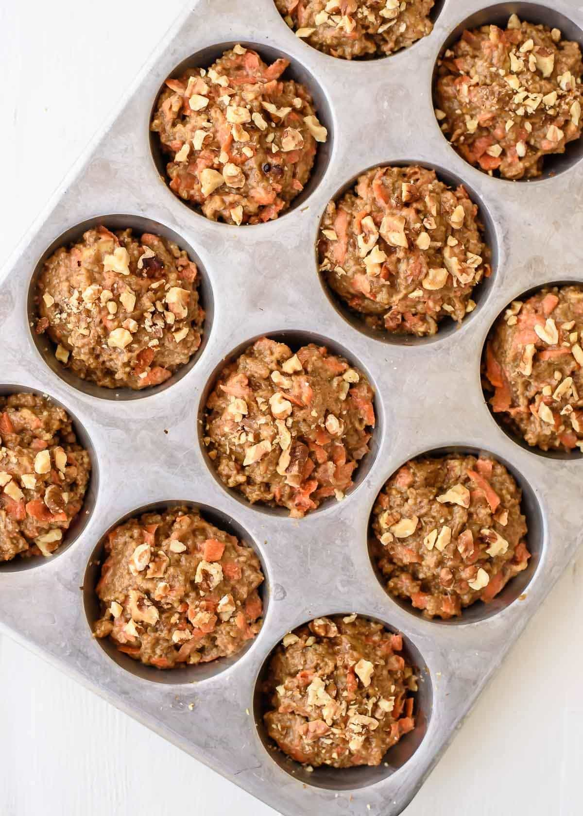 Healthy Carrot Quinoa Muffins. These taste exactly like carrot cake and are good for you too! @wellplated