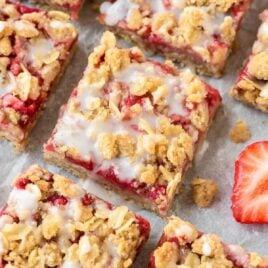 Healthy Strawberry Oatmeal Bars Dessert