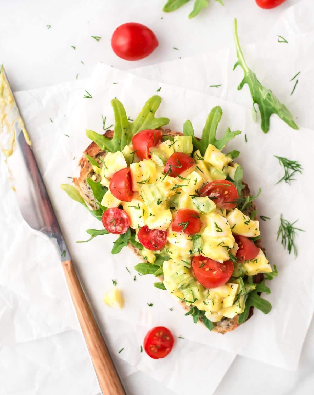 Healthy Egg Salad with Greek Yogurt and Dill