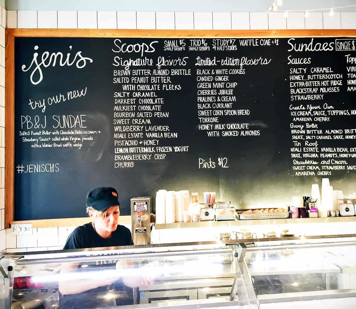 Best restaurants and places to eat in Charleston, South Carolina: Jeni's ice cream