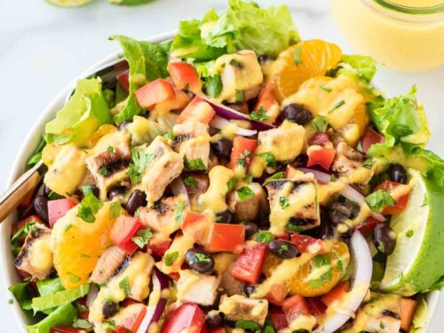 Caribbean Chicken Salad Easy And Filling Recipe Wellplated Com