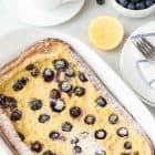 Blueberry Lemon Oven Pancake - This bright, fruity twist on a classic Dutch baby is a family favorite. Only 5 minutes to prep! @wellplated