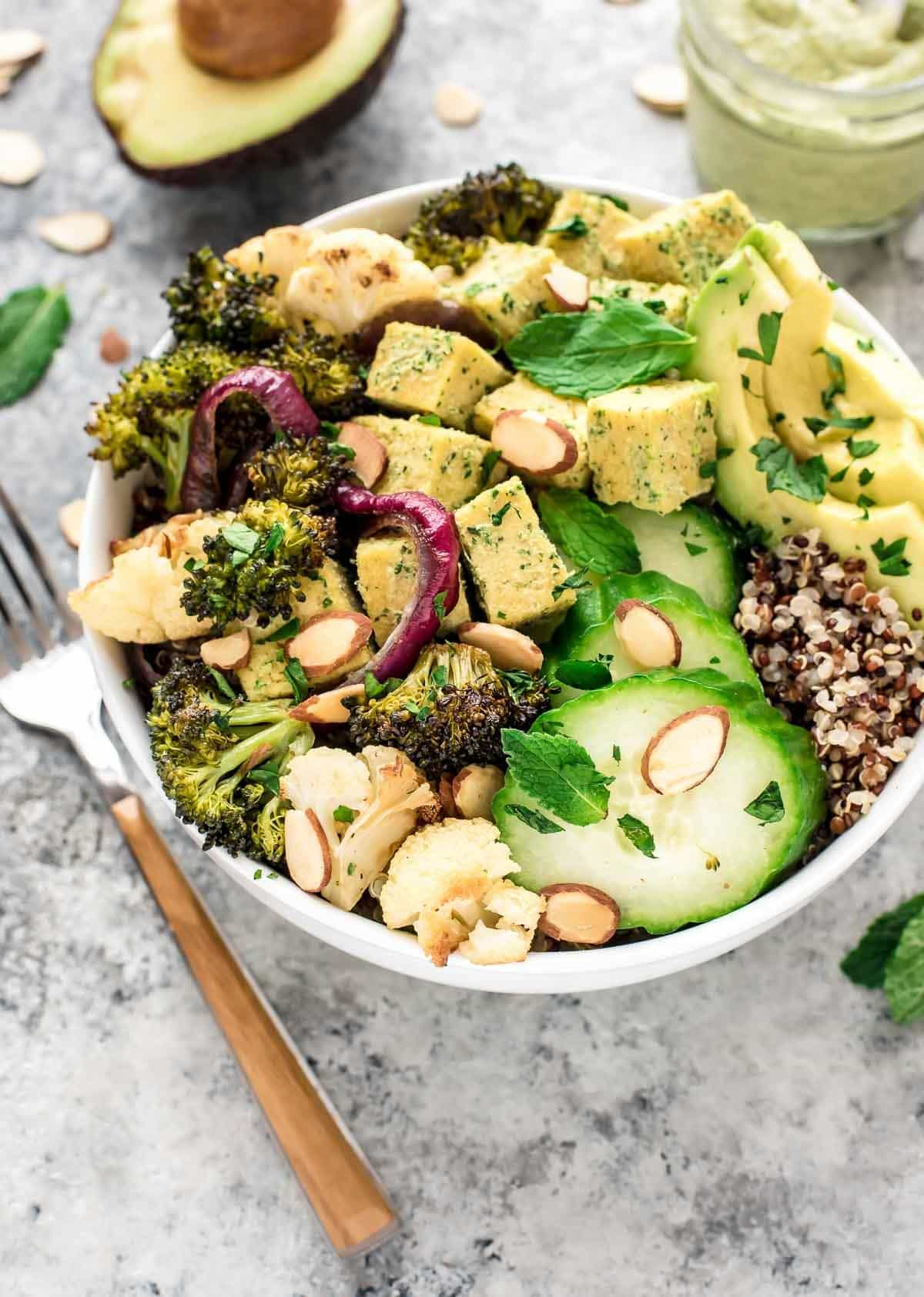 Roasted Veggie BUDDHA BOWL. A complete meal packed with protein, fiber ...
