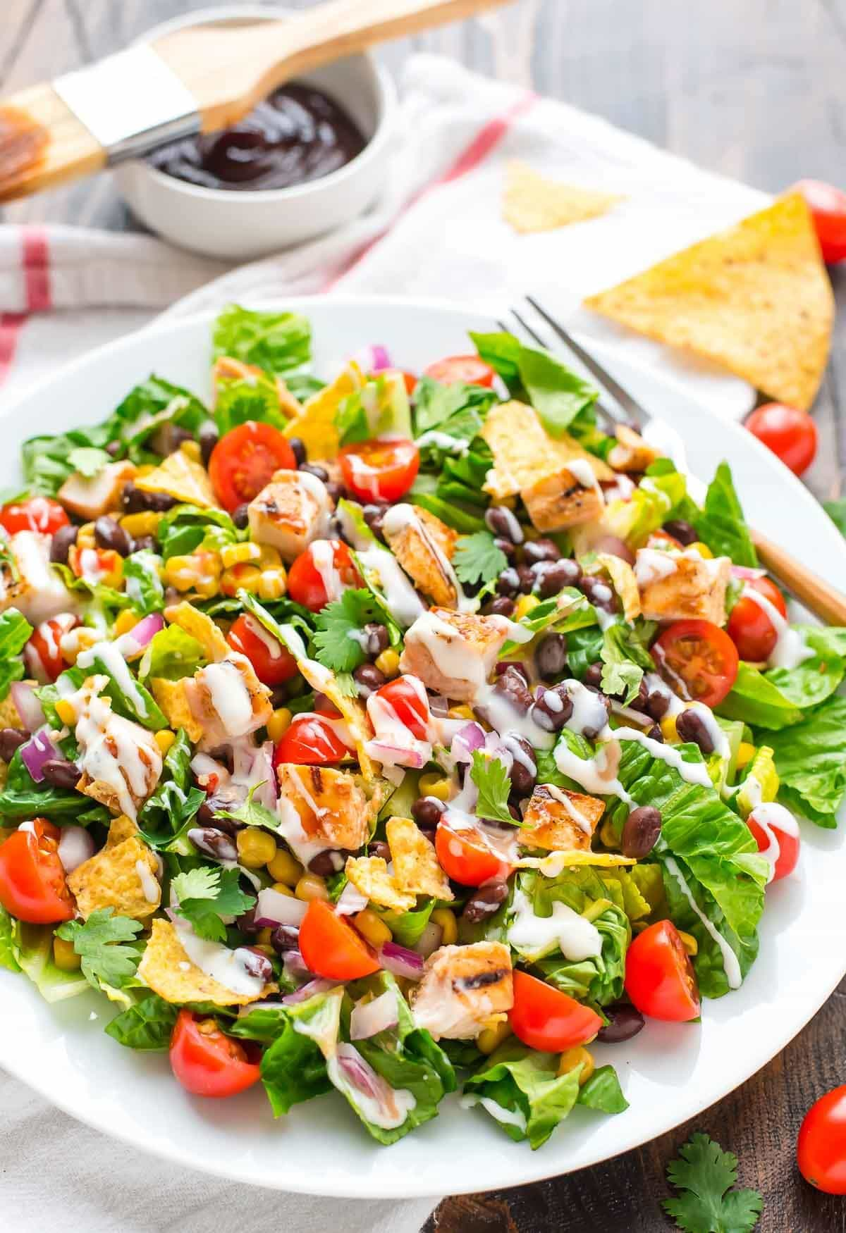 bbq chicken salad with creamy ranch