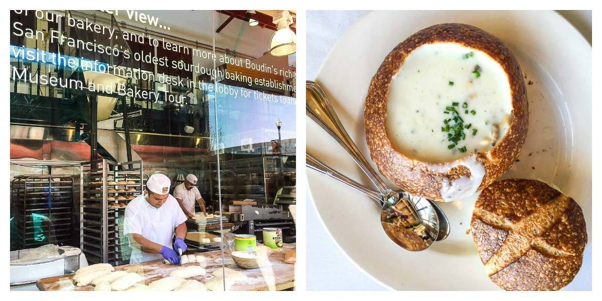 Boudin Bakery —The famous sourdough at Boudin is a must do activity in San Francisco!