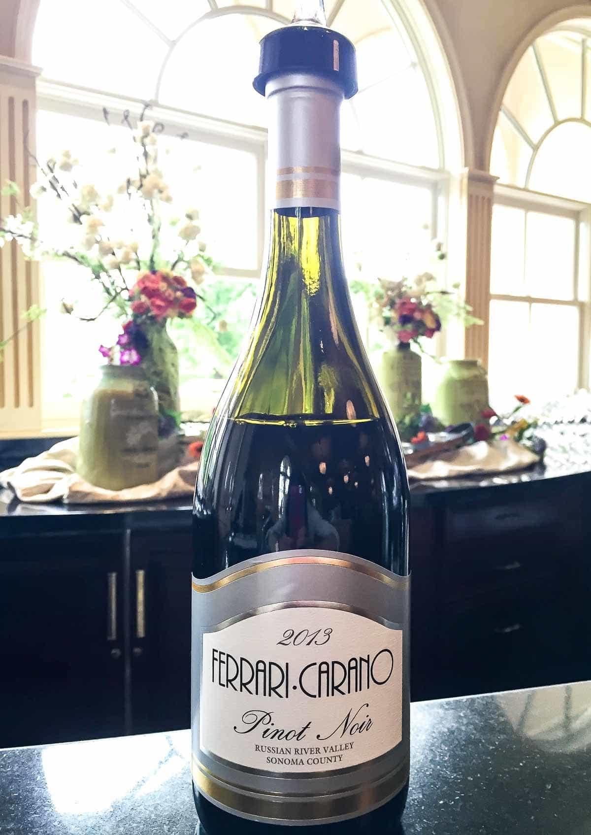 Wine at Ferrari Carano Sonoma Valley Winery