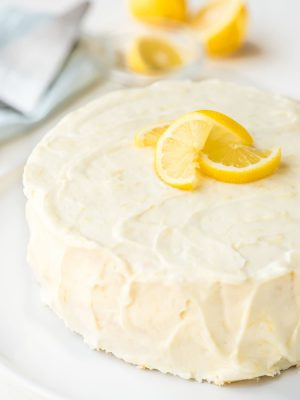 This is the BEST Lemon Cake you will ever eat! Moist, tender, and the batter is so easy to work with too. Topped with a luscious Lemon Cream Cheese Frosting. @wellplated