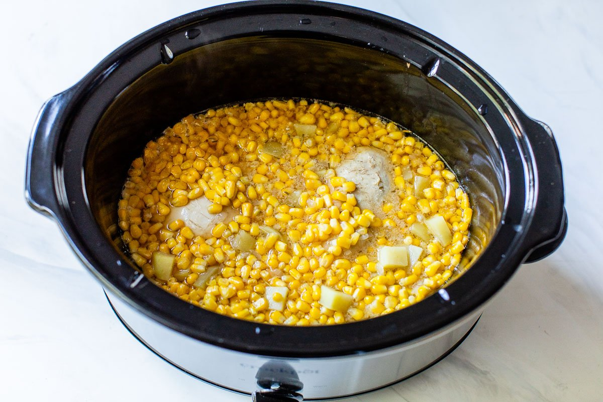 Slow Cooker Corn Chicken Chowder — Healthy and EASY. Your crockpot ...