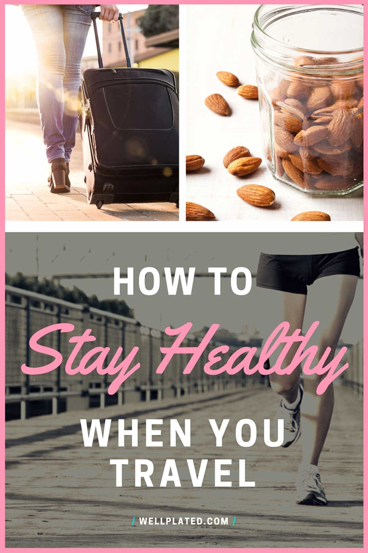 Whether you are traveling for work or going on vacation, these healthy travel tips will help you stay in shape. REALISTIC, helpful ideas including healthy travel snacks, exercise motivation, and more. @wellplated