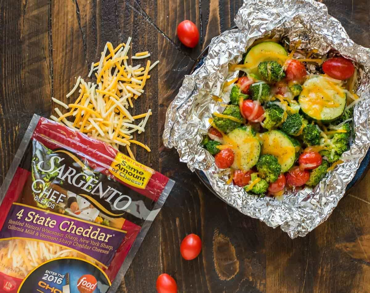 Easy Mustard Pork Tenderloin With Grilled Vegetables In Foil