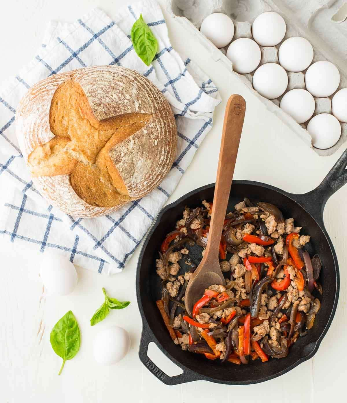 Baked Italian Breakfast Bowls. Perfect brunch recipe! @wellplated
