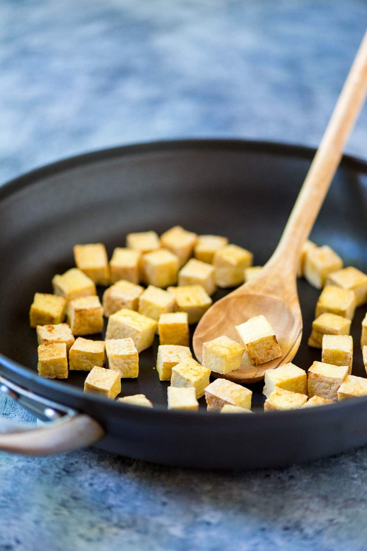 Crispy Tofu No Baking Deep Frying Or Pressing Required This One Simple