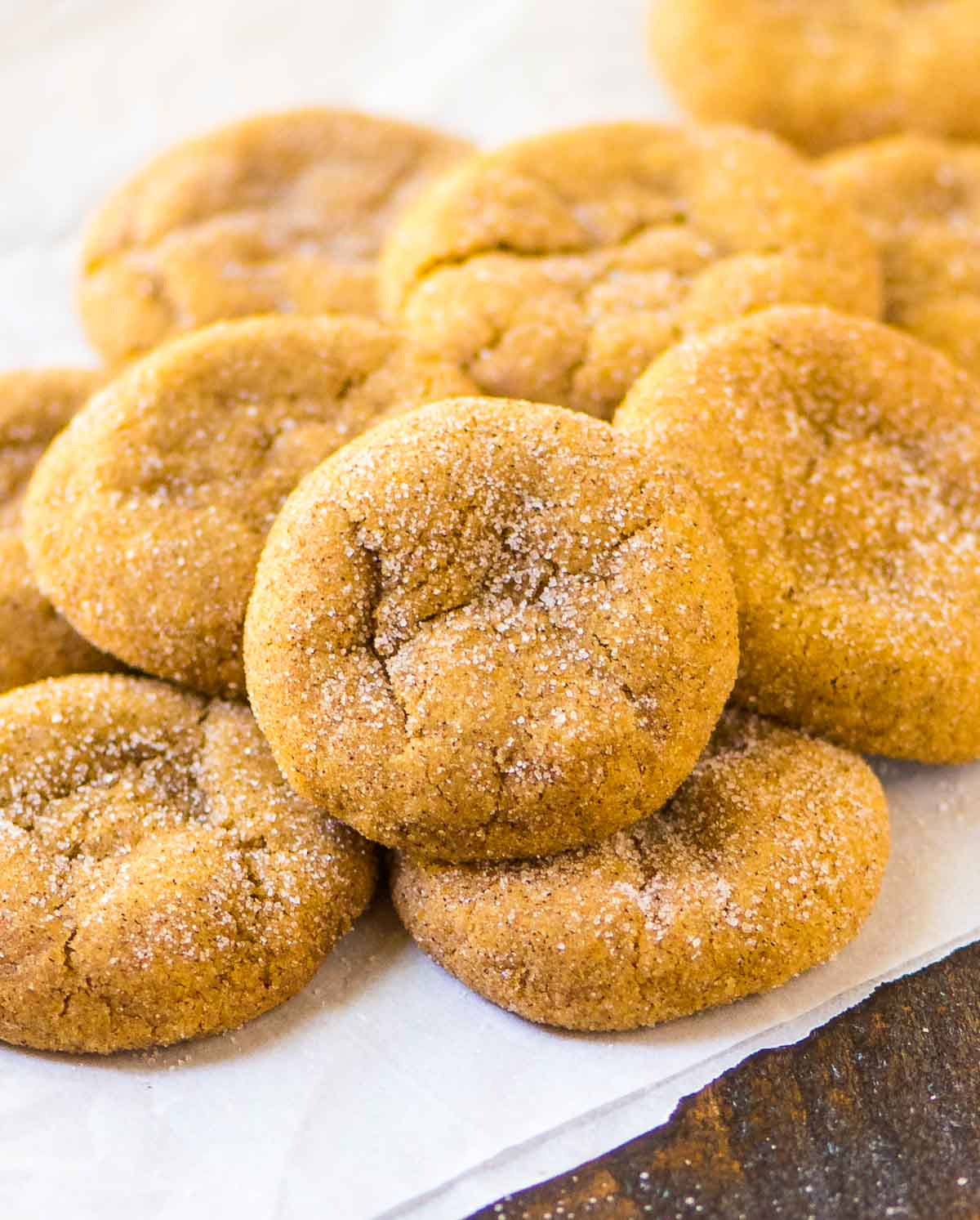 Pumpkin Snickerdoodles. Soft and chewy! @wellplated