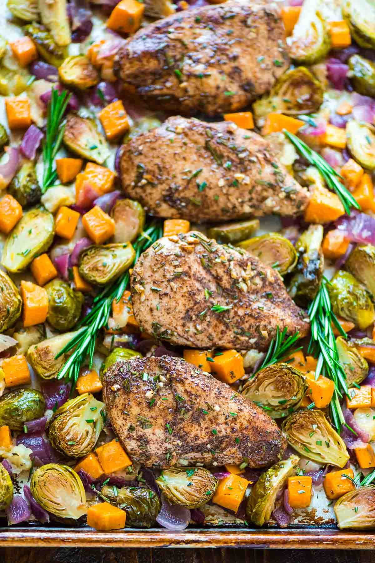 Sheet Pan Chicken With Sweet Potatoes Apples And
