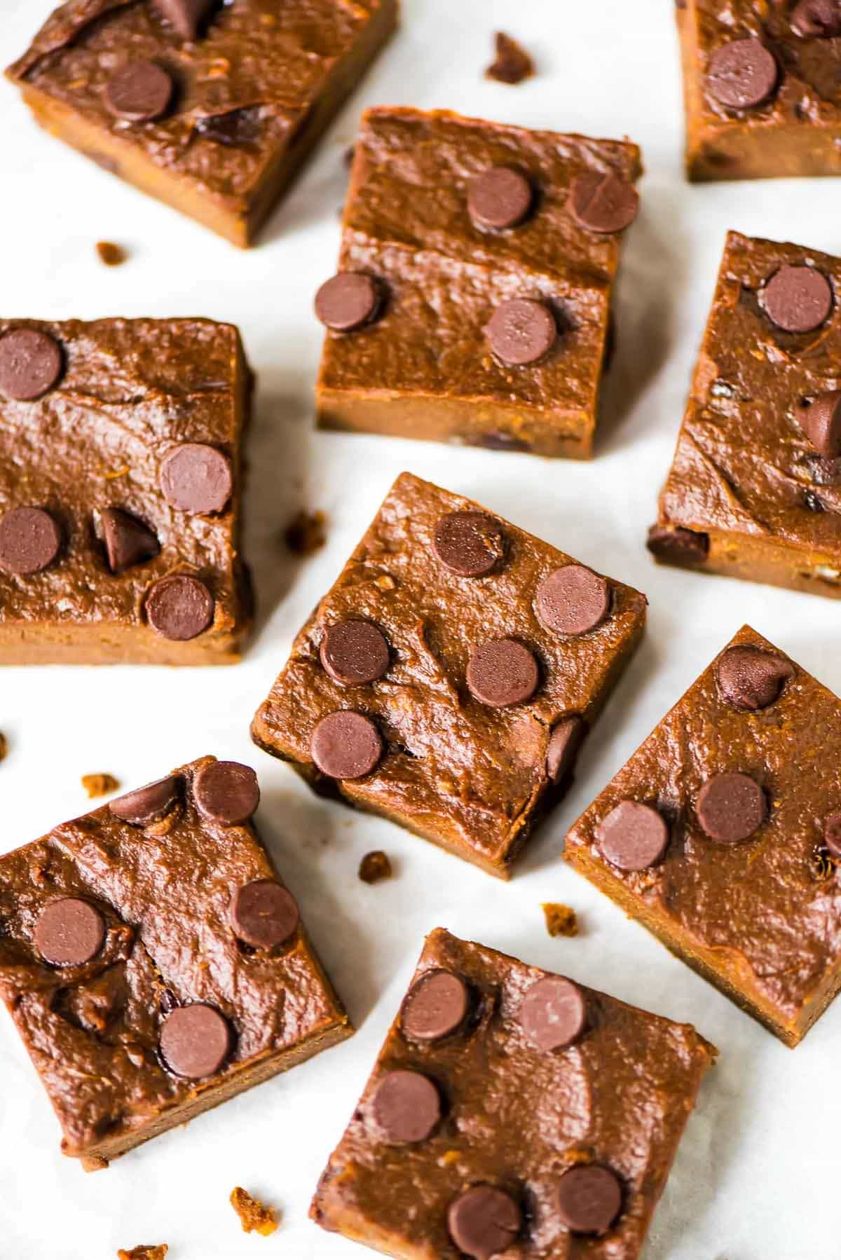 Sweet Potato Brownies. Thick, fudgy and sugar free! Easy, healthy recipe made with whole wheat flour Recipe at wellplated.com | @wellplated