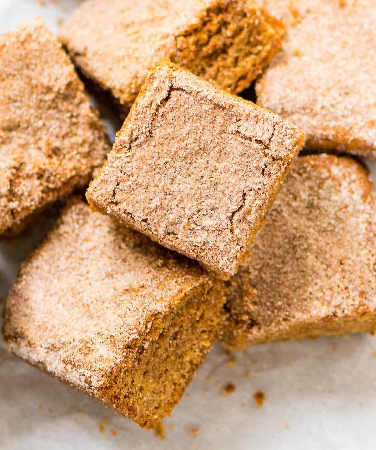 Cinnamon Blondies. PERFECT, soft, and chewy with a buttery cinnamon ...