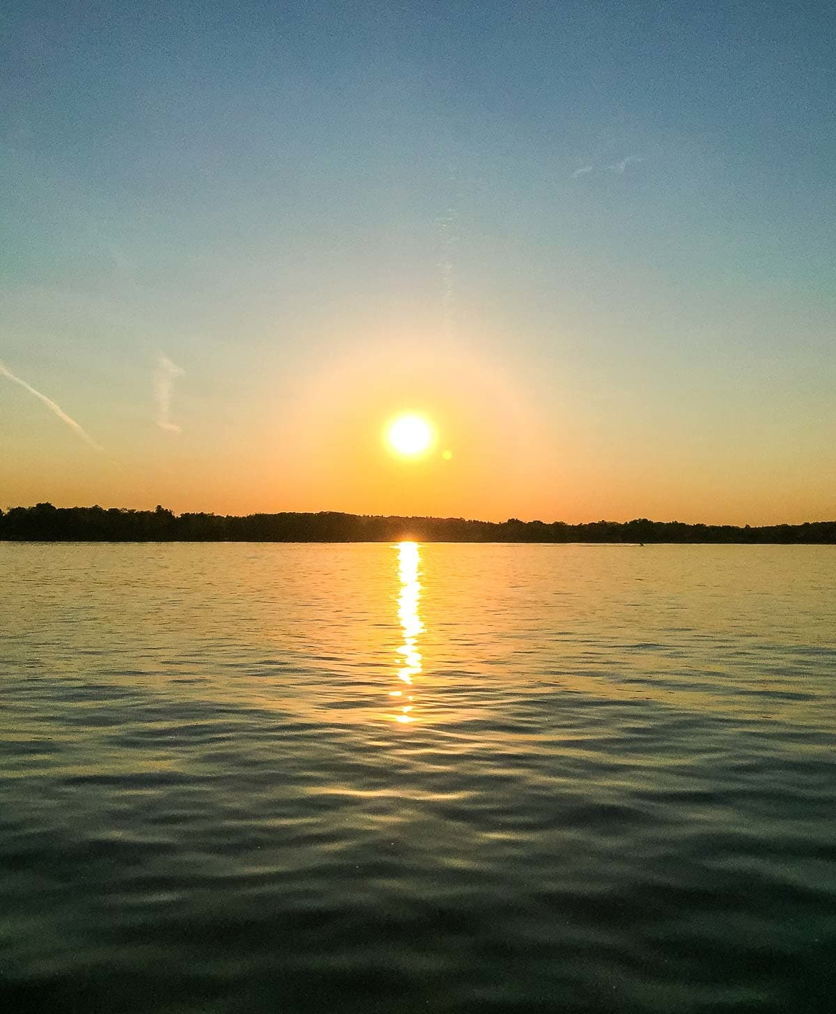 Lake sunset in Wisconsin