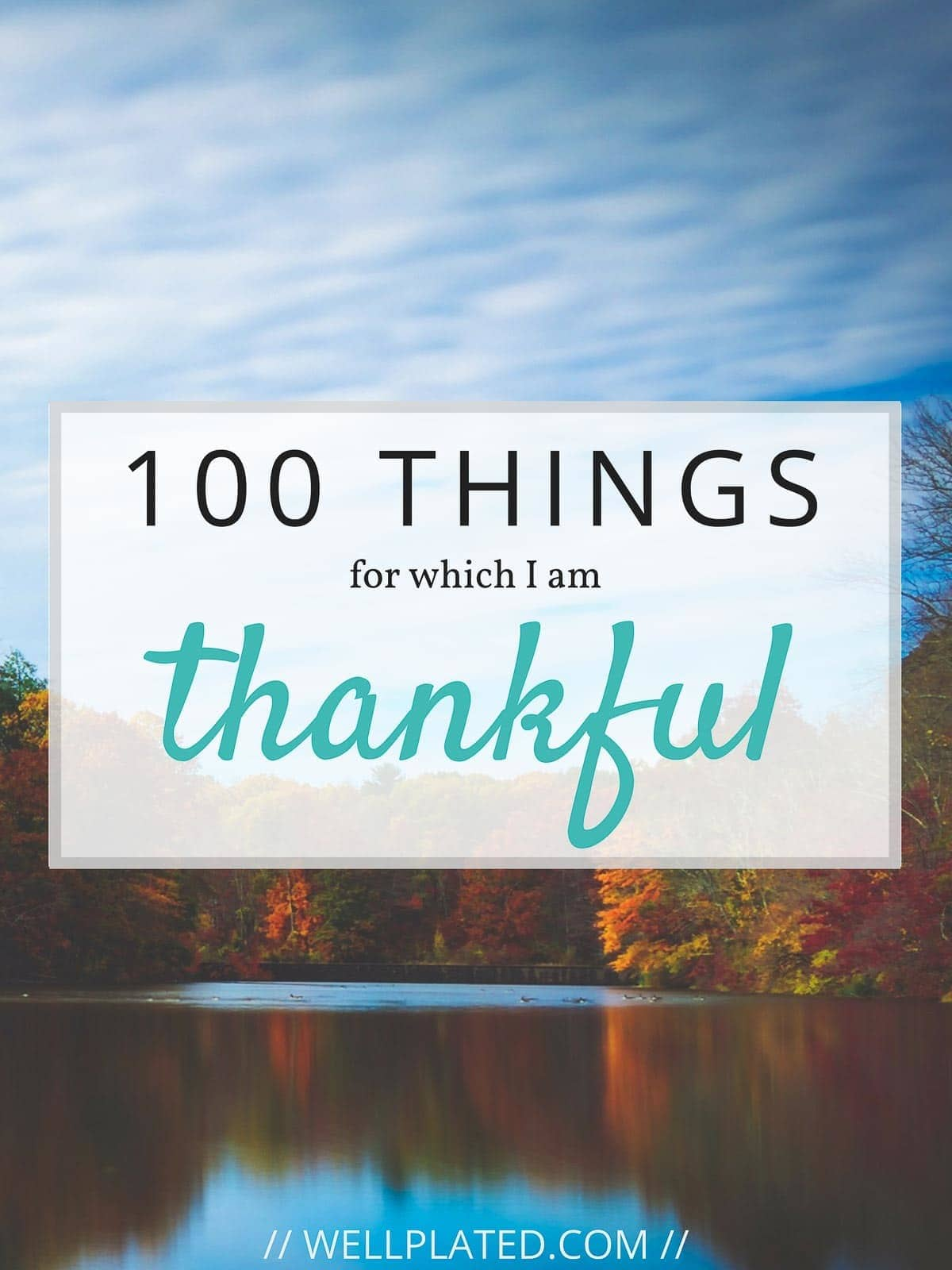 Count your blessings! Here are 100 things to be thankful for this Thanksgiving and every day! #gratitude From wellplated.com @wellplated