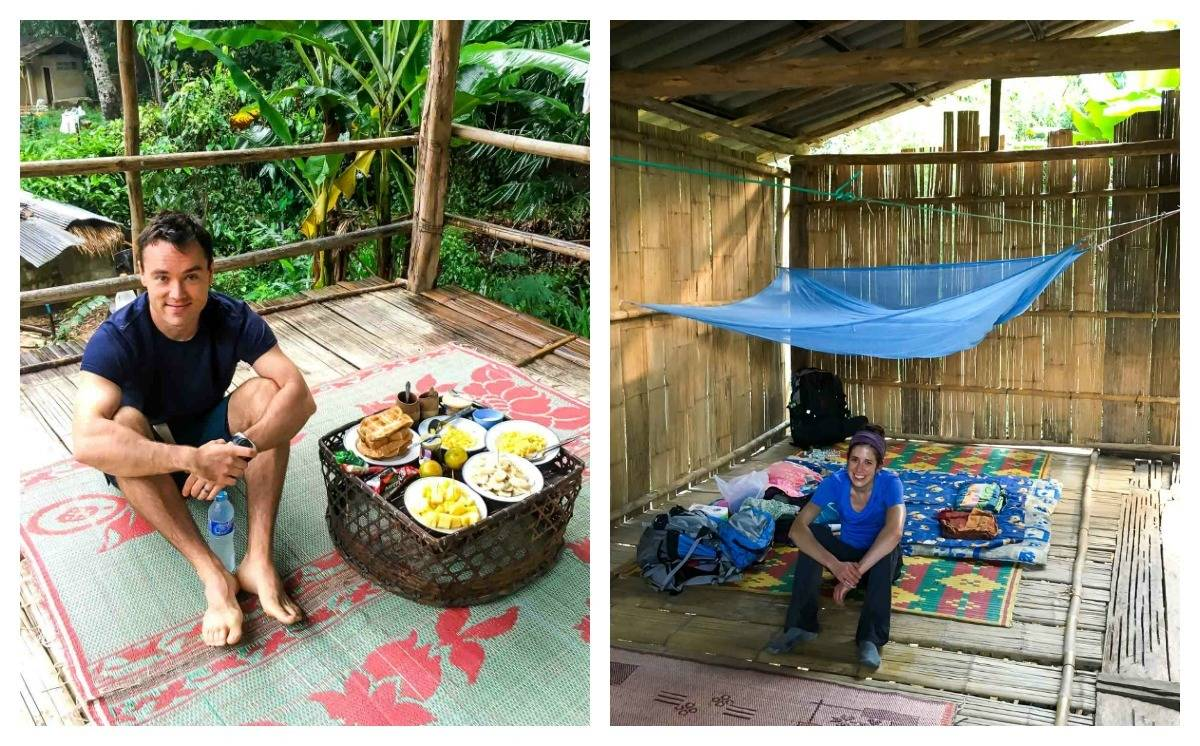Accommodations in hilltribe village in northern Thailand