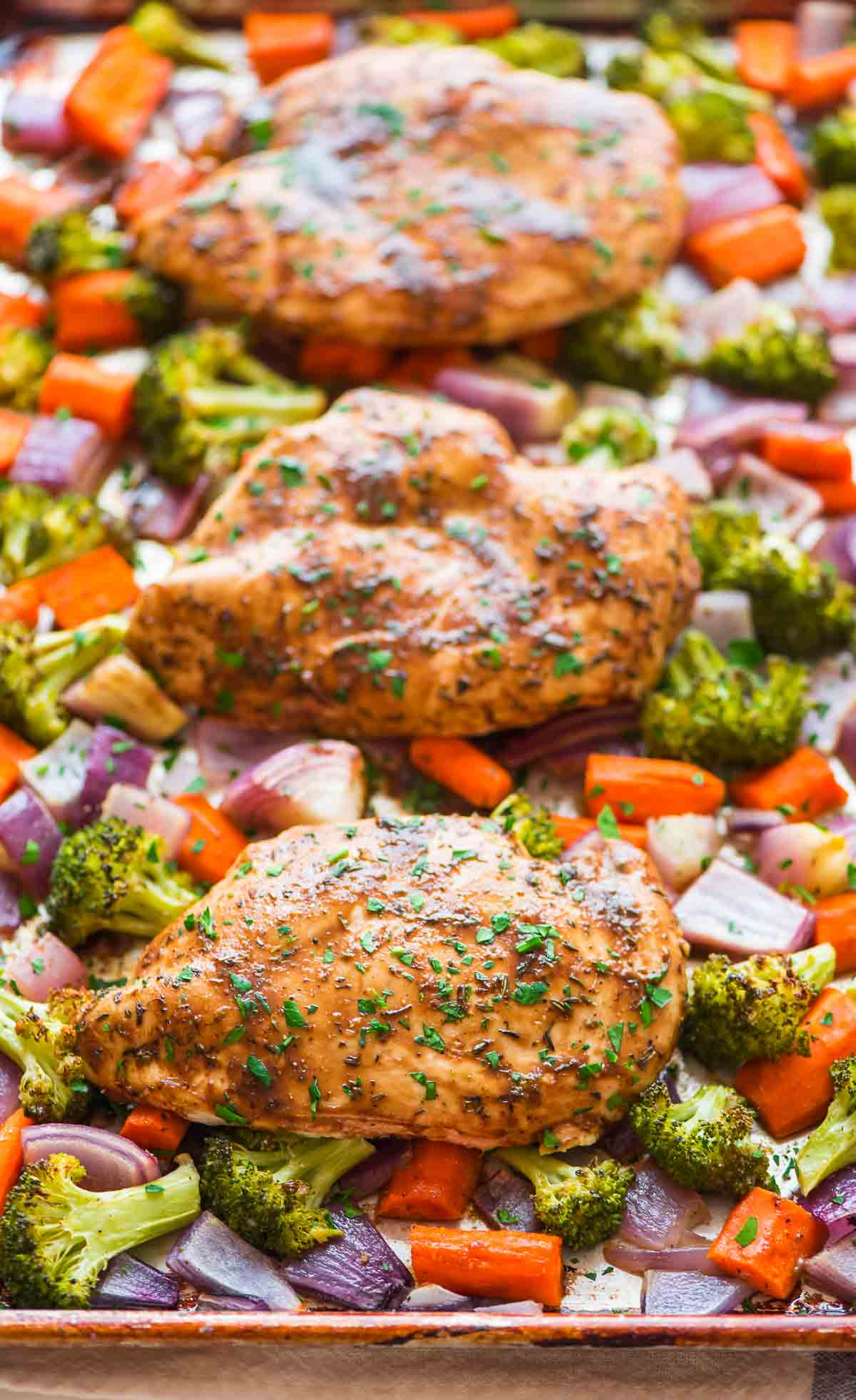 maple dijon chicken and vegetables