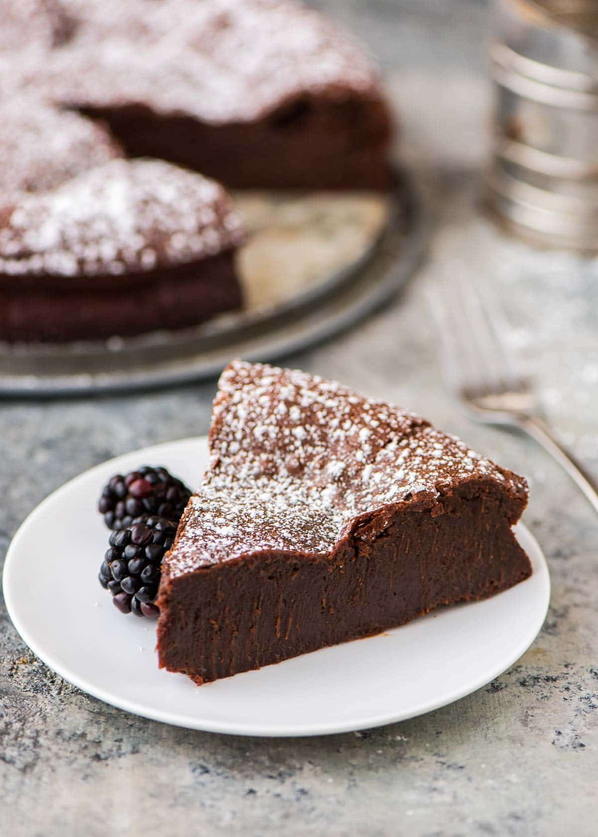 Easy Mini Flourless Chocolate Cake