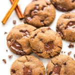 PERFECT Soft and Chewy Chocolate Ginger Molasses Cookies. Dark chocolate and fresh ginger make this the BEST old fashioned gingersnap cookie! Must make for Christmas cookie trays or anytime you need a special treat. Recipe at wellplated.com | @wellplated