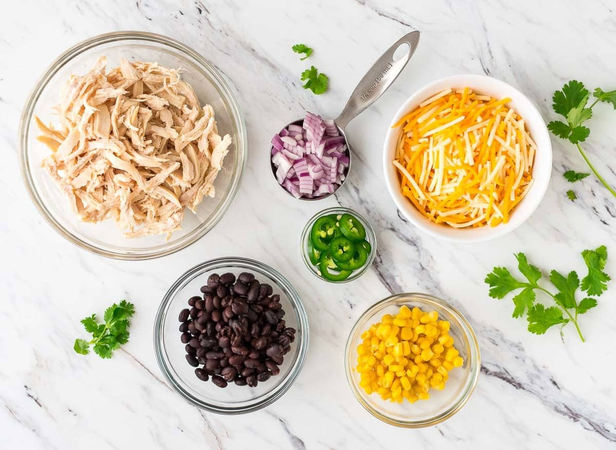 Loaded Mexican Chicken Enchilada Fries. The BEST sweet potato fries ever. Easy to make and perfect for a football party, tailgates, or anytime you need an easy party appetizer. Recipe at wellplated.com | @wellplated