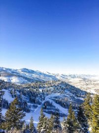 View from a mountain at Deer Valley Resort
