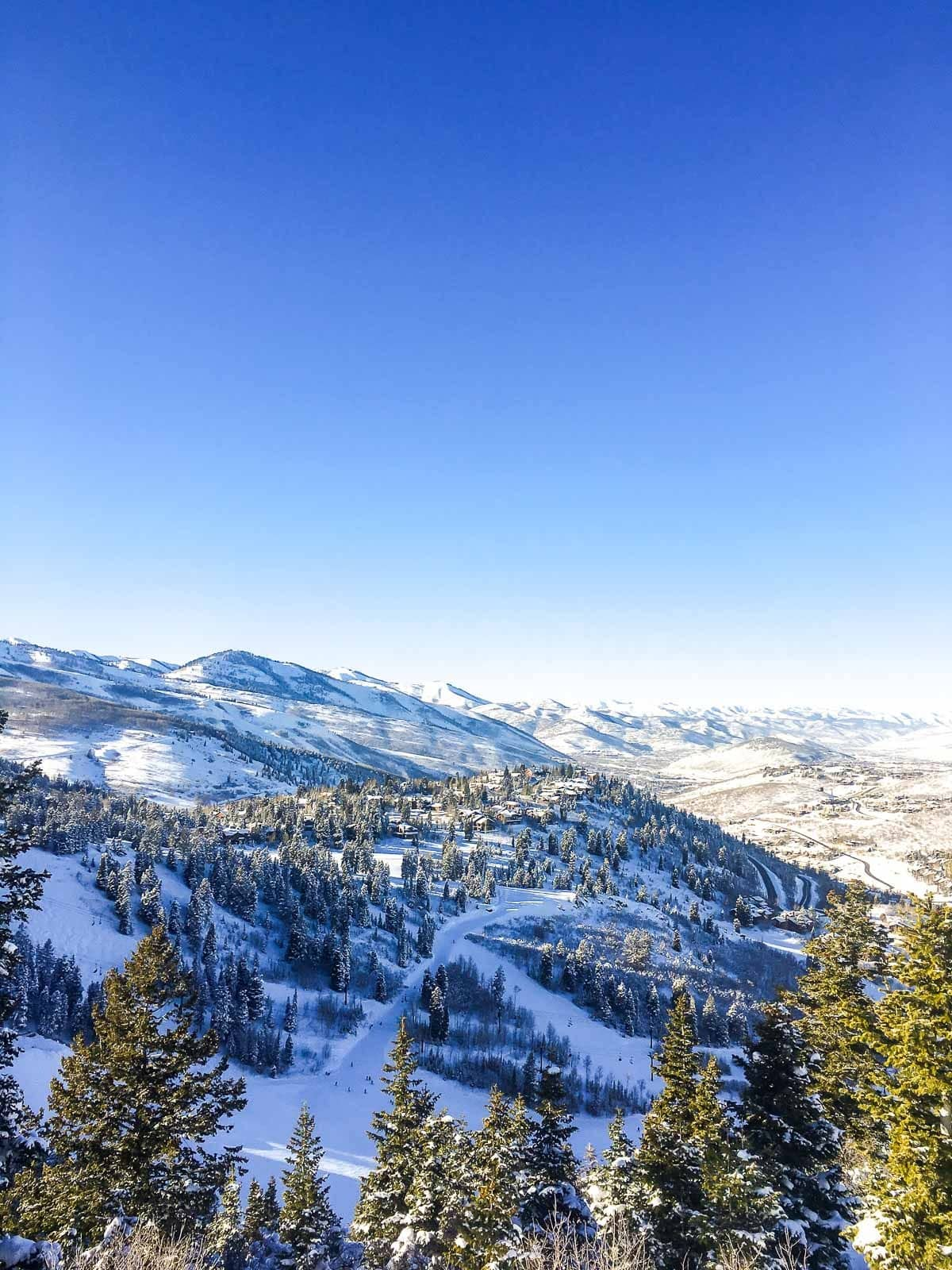View from a mountain in Deer Valley