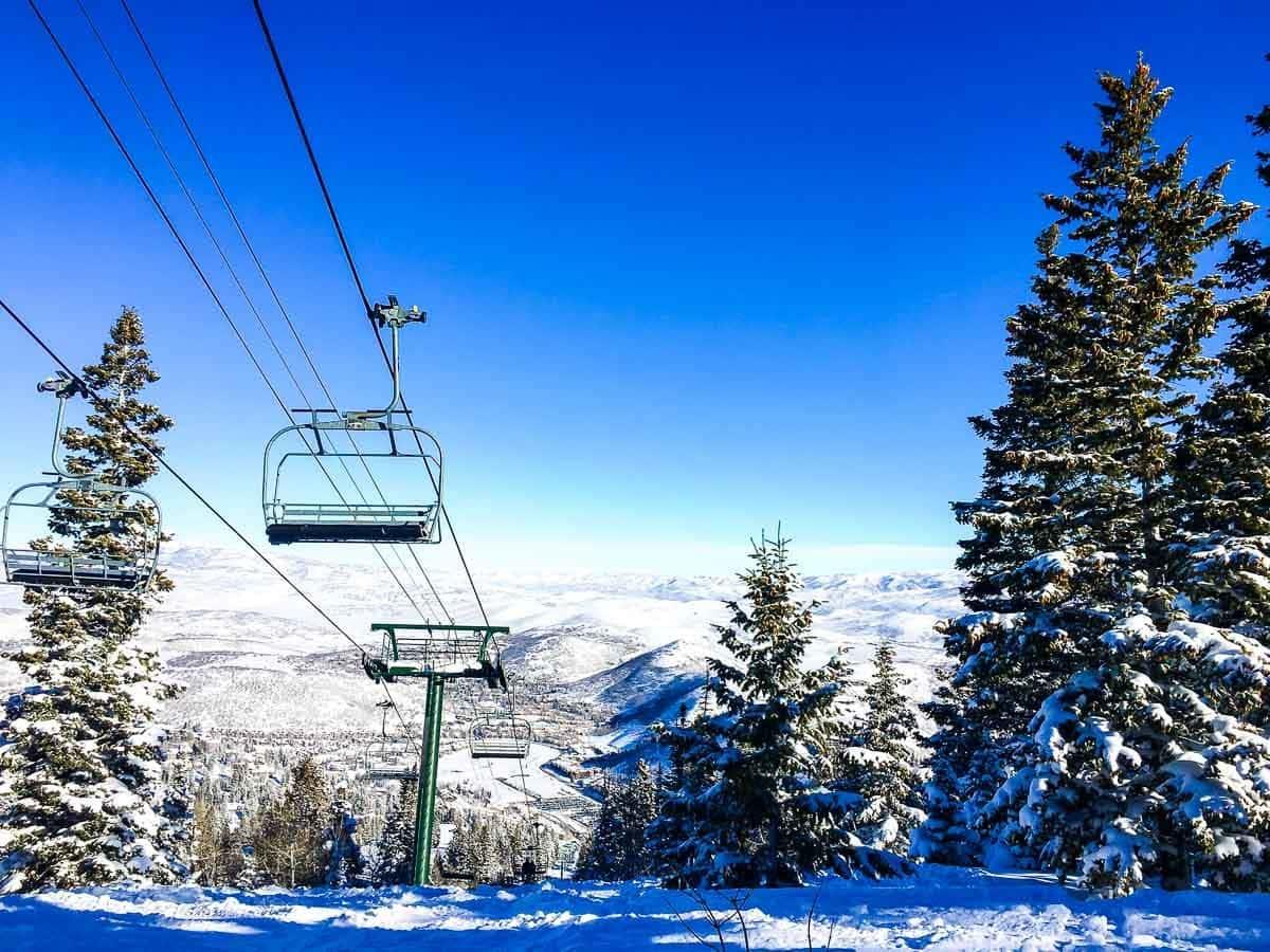 A ski lift at Deer Valley