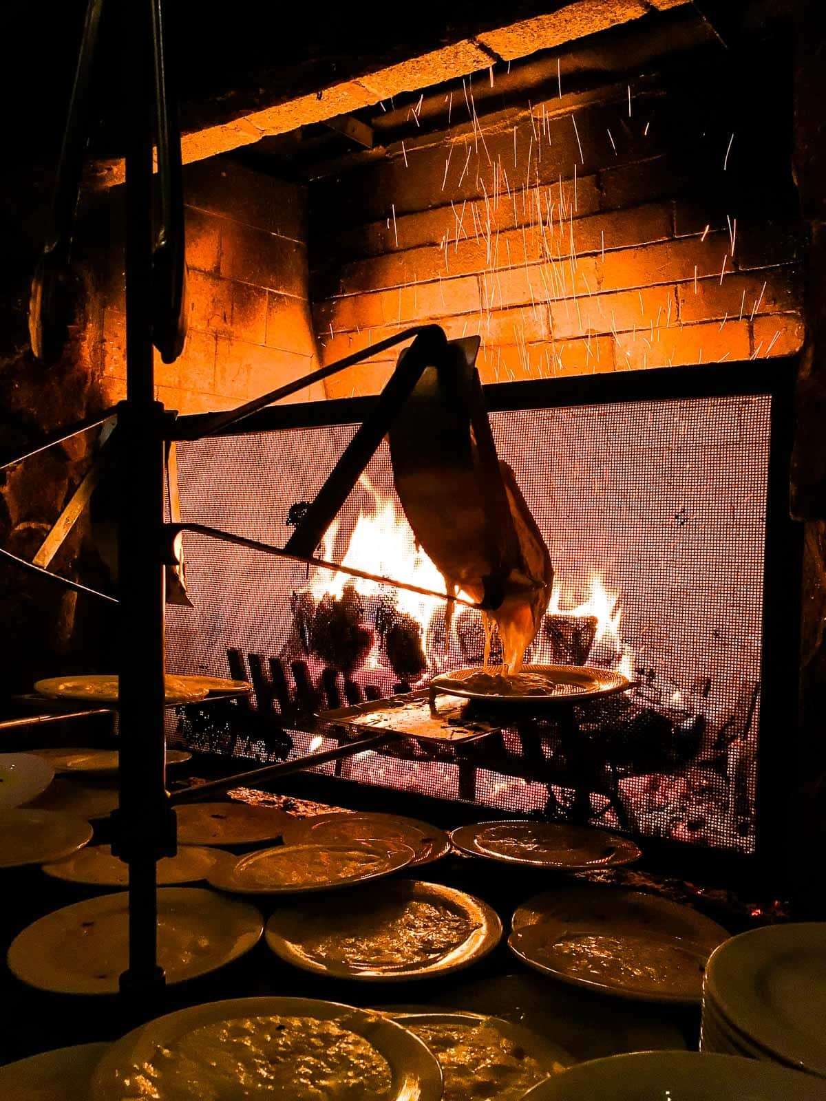 A cozy fireplace at Deer Valley